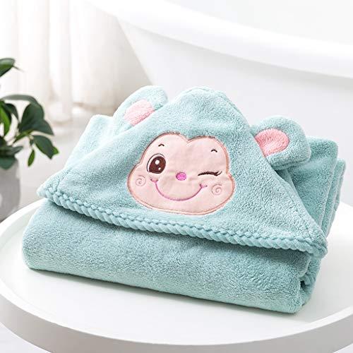 Tier Kapuze Baby-Handtuch Waschlappen Ultra Soft und Extra Large, 100% Baumwolle Bademantel for Dusche Geschenk for Jungen oder Mädchen (2-10Year) (Color : Blue)