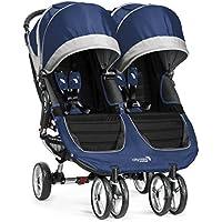 Baby Jogger City Mini Gemelar - Cochecito urbano, color azul y gris