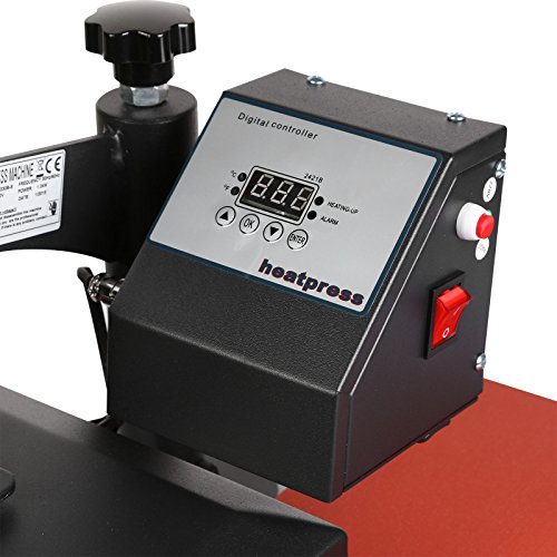 Lartuer Transferpresse Textilpresse T Shirtpresse Heat Press Machine 24X30cm mit Elektronische Zeitregelung und Temperaturüberwachung (24X30cm) - 7