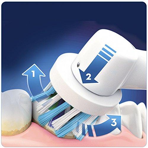 Oral B  Pro 4000 Smart Series   Cepillo de dientes eléctrico con tecnología Braun  1 mango azul y 1 cabezal de recambio