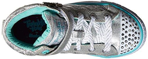 Skechers - Shuffles Sweetheart Sole, Sneaker Bambina Argento (Argent (Sil Argent))