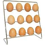 Huevo accesorio de soporte cesta, acero inoxidable, Square Egg Rack