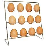 Stainless Steel Egg Rack Holder - Holds 12 (Dozen) Eggs