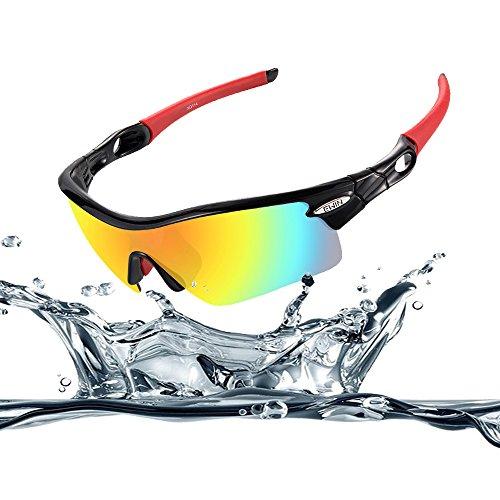 Ewin-E12-Gafas-de-Sol-de-Deporte-Polarizadas-4-Lentes-Intercambiables-TR90-Marco-Irrompible-Antiniebla-Lentes-Impermeables-Gafas-Negra-y-Roja