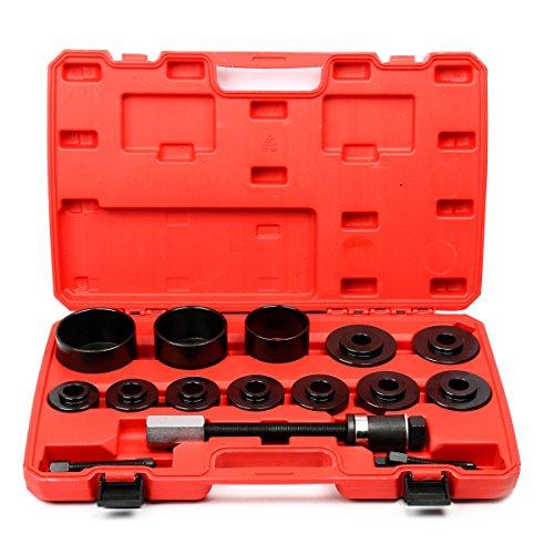 FreeTec 19 tlg. Radlager Werkzeug Set Radlagerwerkzeug Radnabe Abzieher Ausdrücker Montage Demontage für VW Audi Opel Fiat BMW Ford
