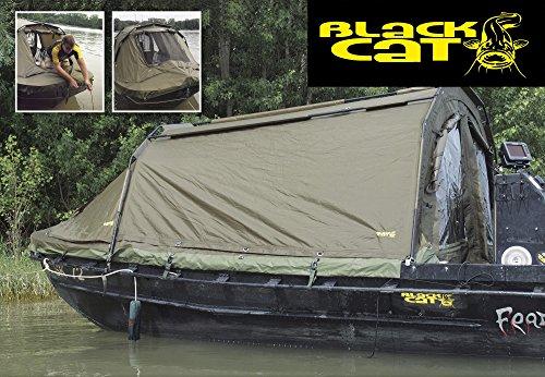 Black Cat Special Boat Cave 360x220x105cm Angelzelt Bootszelt zum Wallerangeln, Boots Zelt zum Welsangeln