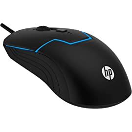 HP M100 Wired Gaming Optical Mouse  Black