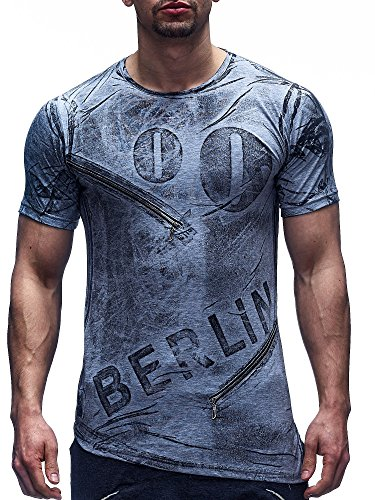 David&Gerenzo -  T-shirt - Uomo Grigio