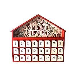 Calendario dell'Avvento in legno: Casetta Larga