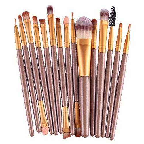 Yiitay 15 pcs Fond de teint Lot de brosse de maquillage professionnel Outil de beauté Pinceaux Poudre