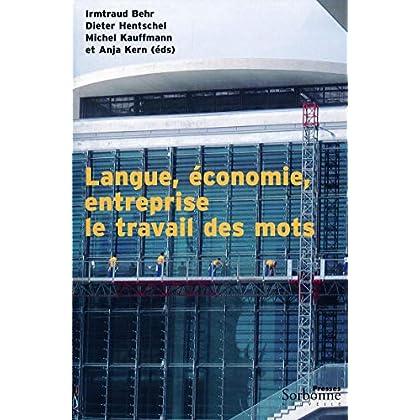 Langue, économie et entreprise : le travail des mots (Monde germanophone)