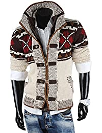 Tazzio Pull d'hiver norvégien en tricot pour homme