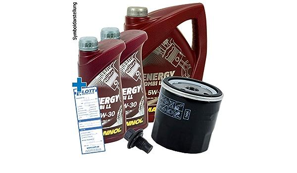 Ölwechsel Set Inspektion 7 Liter Mannol Energy Combi Ll 5w 30 Motoröl Ölfilter Öl Ablassschraube Verschlussschraube Auto