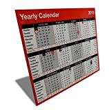 2018 Yearly Hardboard Office Calendar. Free Standing Desk Planner. YC1