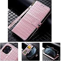 SevenPanda Flip Krokodil Muster Brieftasche für P30 Pro, Premium PU Leder Tasche mit Kickstand Kartenhalter Ausweis und Stoßfester Schutzhülle für Huawei P30 Pro, Roségold