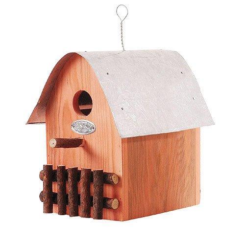 Buntes Vogelhaus Nistkasten Holz Orange 21cm