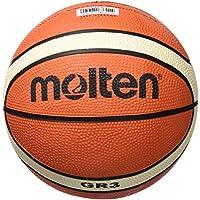 MOLTEN BGHX - Balón de Baloncesto de Entrenamiento Junior, Naranja y Marrón Claro, Talla 5