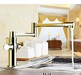 Wasserhahn GQLB Kupfer Chrom warme und kalte Küche klappbarer Umwelt rotierende versenkbaren Armatur Waschbecken