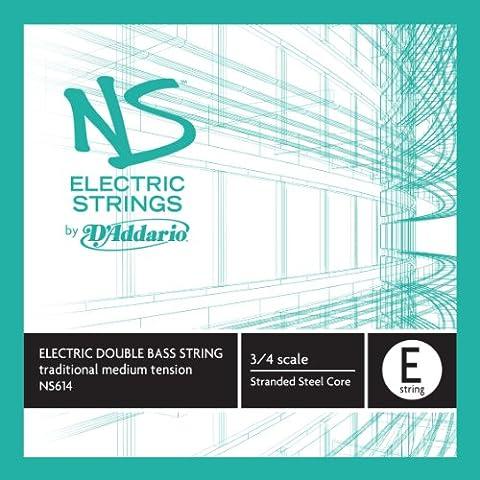 D'Addario NS614 elettrico-Kontrabass Einzelsaite 'A' di acciaio intrecciato nucleo medio