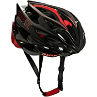 AWE® AWESpeed™ SOSTITUZIONE DI CRASH GRATIS 5 ANNI * Nello stampo di ciclismo su strada uomini adulti Casco Carbonio nero rosso 56-58cm