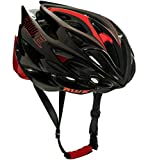 AWE® AWESpeed™ In Mould Casco de ciclismo en ruta para hombres adultos 58-61cm Negro, carbono rojo