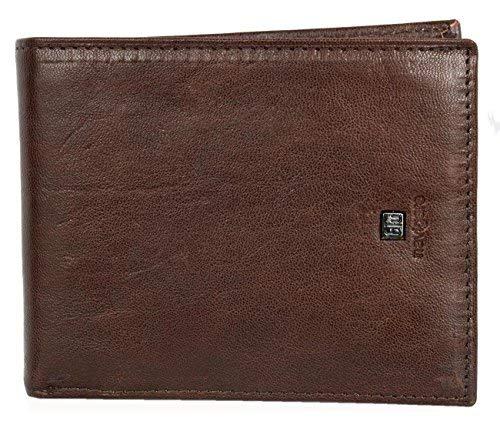 Herren Braunes Qualität Leder Portemonnaie - Geldbörse Navigare