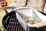 Edelstahl Grillbox CAZOO Dünstbox und Warmhaltebox Warmhaltebehälter Dünsteinsatz Grillschale