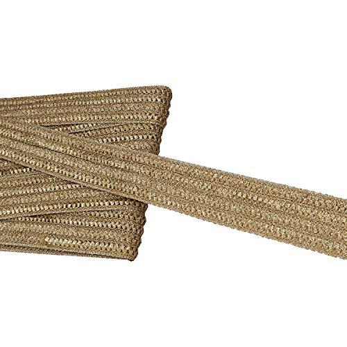 Eerafashionicing 9.5 mtr Stylish Golden Net Laces for Dresses