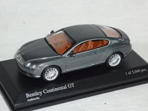 Bentley Continental GT Coupe Anthracite Grau 1/64 Minichamps Modell Auto Modellauto