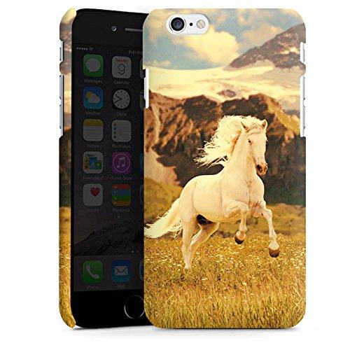 Apple iPhone X Silikon Hülle Case Schutzhülle Weißes Pferd Hengst Mustang Stute Premium Case matt