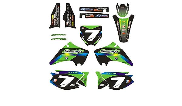 Jfgracing Custom Motorrad Komplettkleber Aufkleber Aufkleber Grafik Kit Für 2003 2008 Kawasaki Kx125 Kx250 Auto