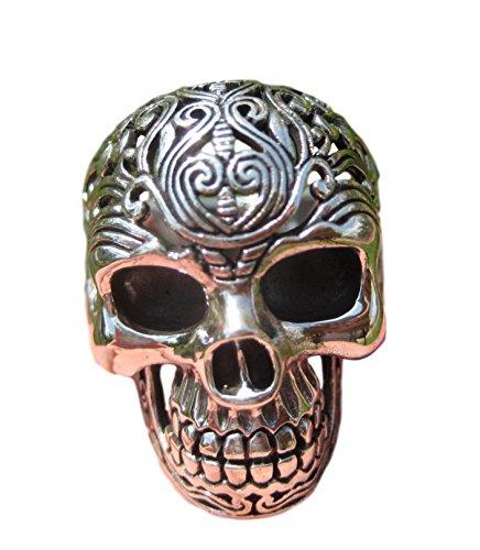 925 Silber Filigrane Schädel Ring schmuck Kunst Thailand A16