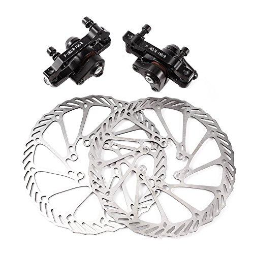 SurePromise One Stop Solution for Sourcing Frein Disque Avant+Arriere Etrier Mecanique Noir pour Velo Bicyclette VTT MTB