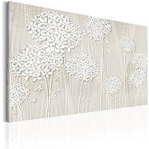 Cuadro 90x60 cm - 3 tres colores a elegir - Formato Grande - Impresion en calidad fotografica - Cuadro en lienzo - Flores b-C-0031-b-b 90x60 cm