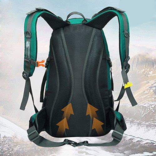 MagiDeal Zaino da Trekking 40L Donna e Uomo con Protezione Impermeabile per Alpinismo Arrampicata Equitazione Borsa da Viaggio - Blu Blu