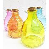 Koopmann 4 x Wespenfalle Insektenfalle Glas sortierte Farben 9,5 x 13 cm