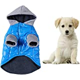 Pet Dog Puppy Cat Blue Hoodies Warm Jacket Clothes Coat Sweater Outwear Winter Jumpers Costume Apparel Clothing