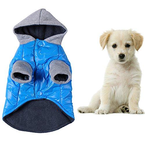 Hund Winter Warm Jacke Puppy Mantel mit Kapuze Pet Kostüm Kleidung Bekleidung (Cashmere-fleece-shirt)