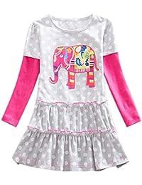 JUTOO 2019 Toddler Baby Kids Girls Rainbow Stripe Vestido de Fiesta de Mariposa Ropa