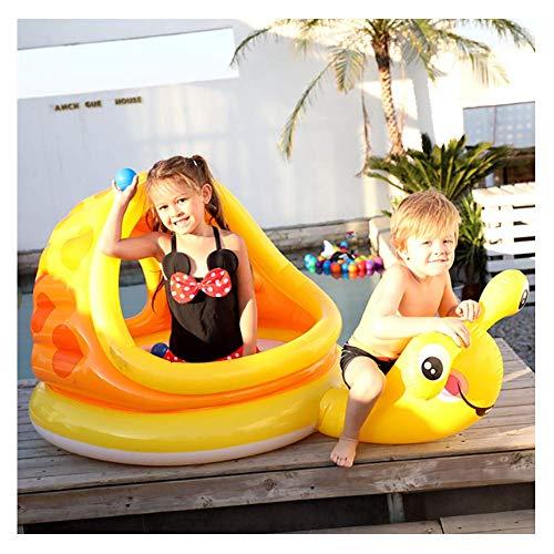 XIONGDA Aufblasbare Sonnenschirm Pool Kinder aufblasbare Baby Bad schwimmende Reihe Spielzeug Sommer Kinder schwimmring Liege Spielen Wasser schwimmende Bett schlauchboot