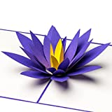 3D Pop Up Karte Lotus-Blüte