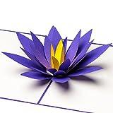 "Glückwunschkarte ""Lotusblüte"" 3D Pop up, handgefertigt, Blume, z.B. als Gute Besserung, zum Muttertag, Muttertagskarte, Geburtstagskarte, Geburtskarte, Hochzeitskarte"