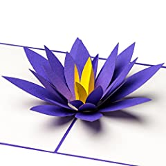 Idea Regalo - Biglietto di auguri fatto a mano con fiore di loro in 3D, da regalare ad esempio per una buona guarigione, per la festa della mamma, compleanni, nascite, matrimoni
