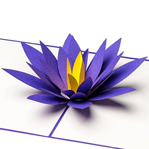 3D Pop Up Karte Lotus-Blüte, z.B. als SPA-Gutschein, Wellness-Gutschein oder zum Muttertag, Muttertagskarte, Geburtstagskarte, Geburtskarte, Hochzeitskarte, Gute Besserung, Geburtstag, zur Geburt