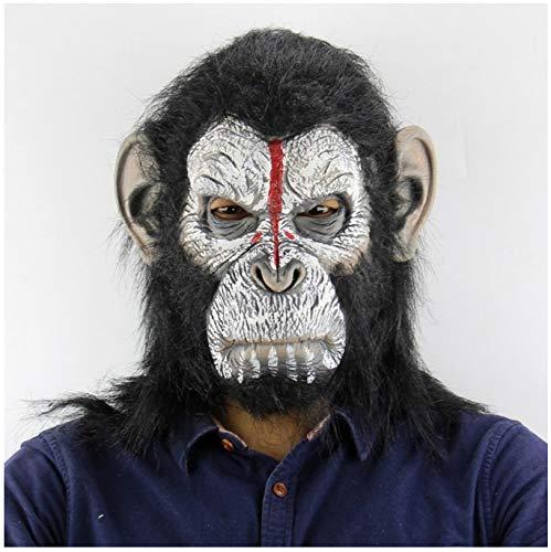 YXBB Halloween Cosplay Gorilla Maskerade Maske Sun Wukong Kostüm Cap Realistische Affen (Realistische Gorilla Kostüm Für Erwachsene)