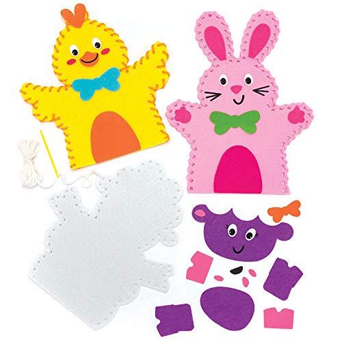 Baker Ross Kits Costura Marionetas Mano Pascua Paquete