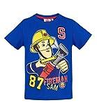 Sam el bombero Chicos Camiseta Manga Corta - Azul - 116