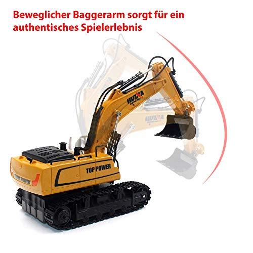 RC Auto kaufen Baufahrzeug Bild 2: HSP Himoto 9-Kanal RC 2.4GHz Ferngesteuerter Raupenbagger, Bagger, Baustellenfahrzeug, Fahrzeug, Komplett-Set inkl. Fernsteuerung, Akku und Ladekabel*