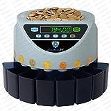 Münzzähler Münzzählmaschine Münzsortierer Geldzählmaschine SR1200 von Securina24® (Silbergrau - Blacklabel - GBB)