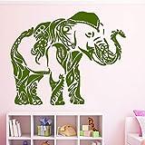 xingbuxin Abnehmbare Elefanten Wandaufkleber PVC Wandkunst Aufkleber Moderne Mode Wandaufkleber Für...